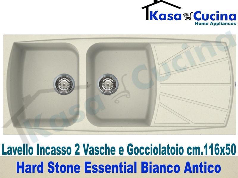 Lavello Cucina Fragranite Bianco.Lavello Da Incasso Essential Cm 116x50 Fragranite Bianco Antico 2