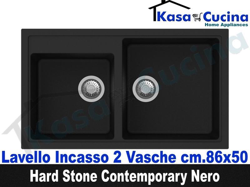Lavello da Incasso Contemporary cm.86X50 Fragranite Nero 2 ...