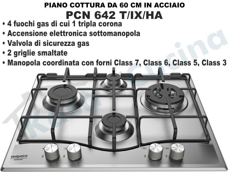 Piano Cottura Incaso cm.60 Acciaio Inox Tradizione 4 Fuochi Gas ...