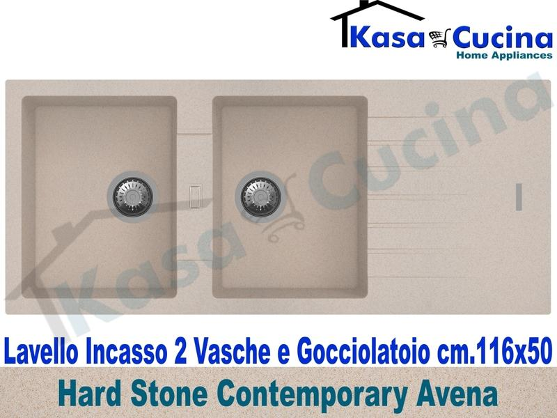 Lavello da Incasso Contemporary cm.116X50 Fragranite Avena 2 Vasche