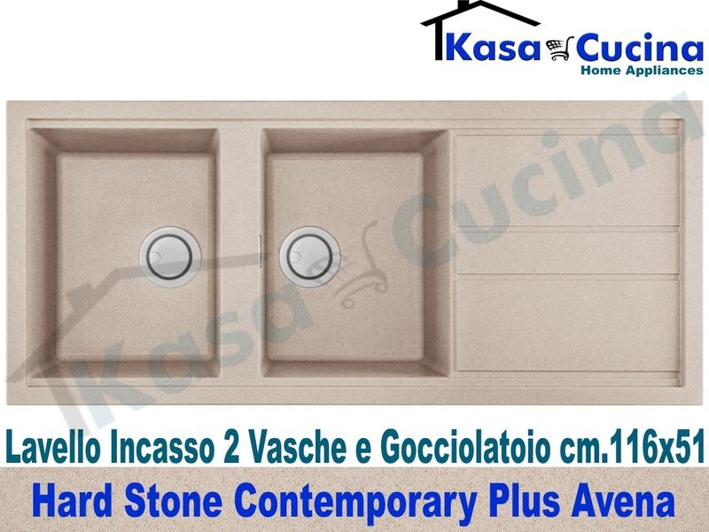 Lavello da Incasso Contemporary Plus cm.116X51 Fragranite Avena 2 Vasche