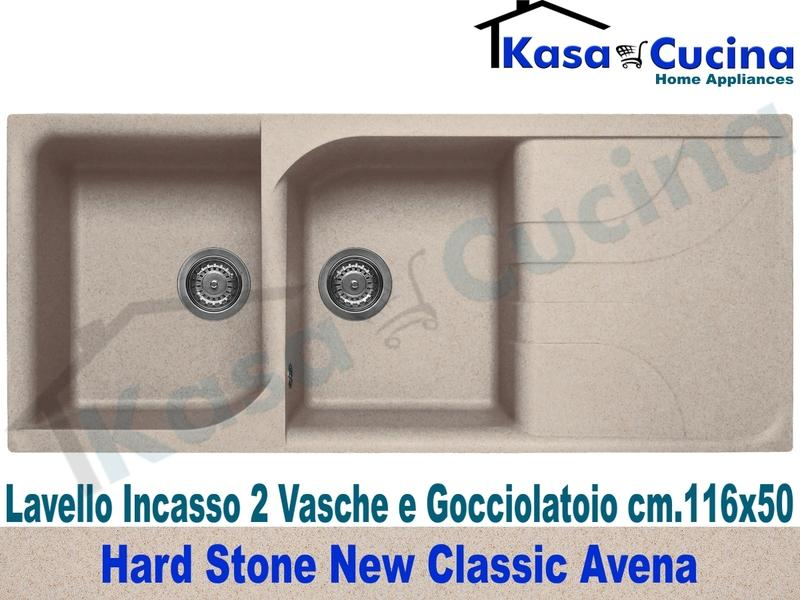 Lavello da Incasso Classic New cm.116X50 Fragranite Avena 2 Vasche