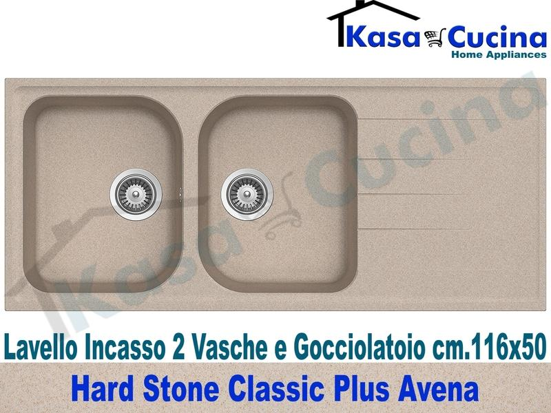 Lavello da Incasso Classic Plus cm.116X50 Fragranite Avena 2 Vasche