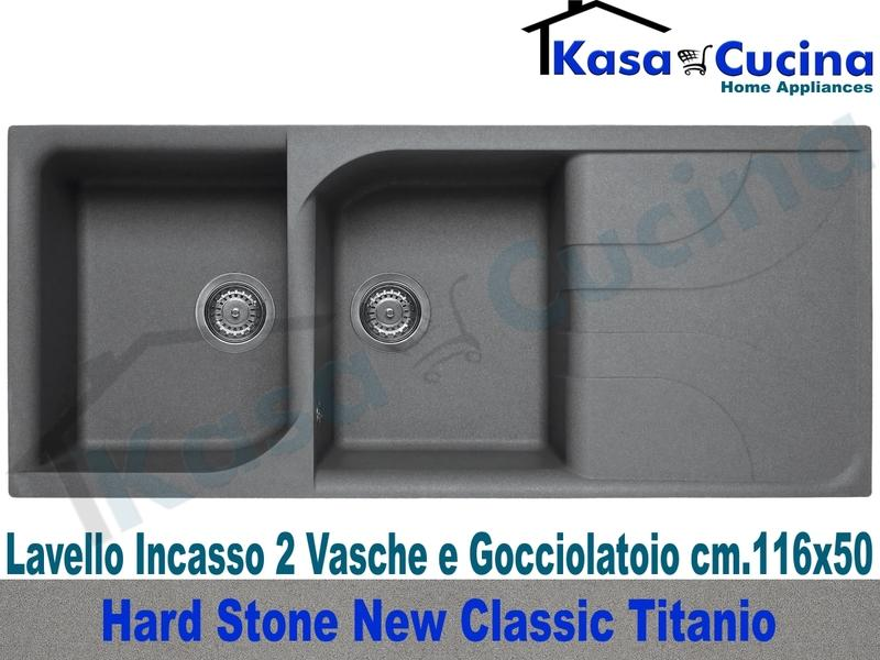 Lavello da Incasso Classic New cm.116X50 Fragranite Titanio 2 Vasche