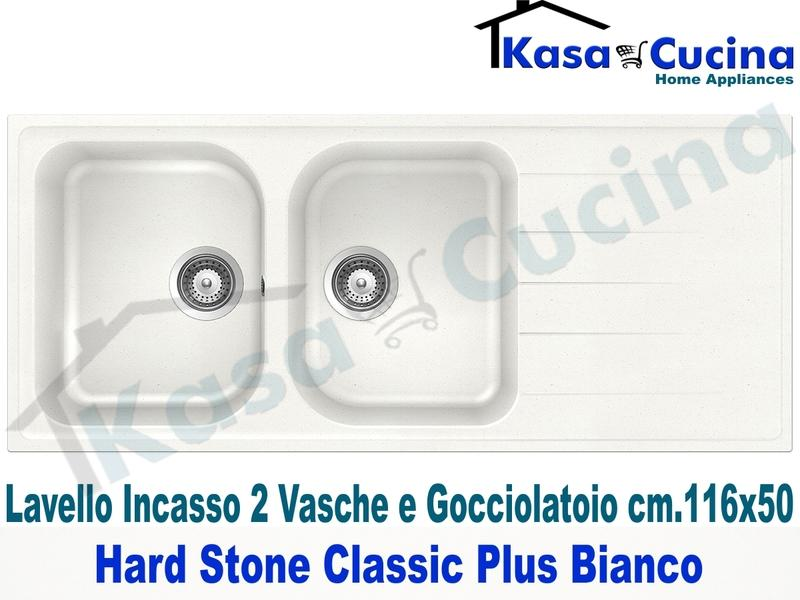 Lavello da Incasso Classic Plus cm.116X50 Fragranite Bianco 2 Vasche