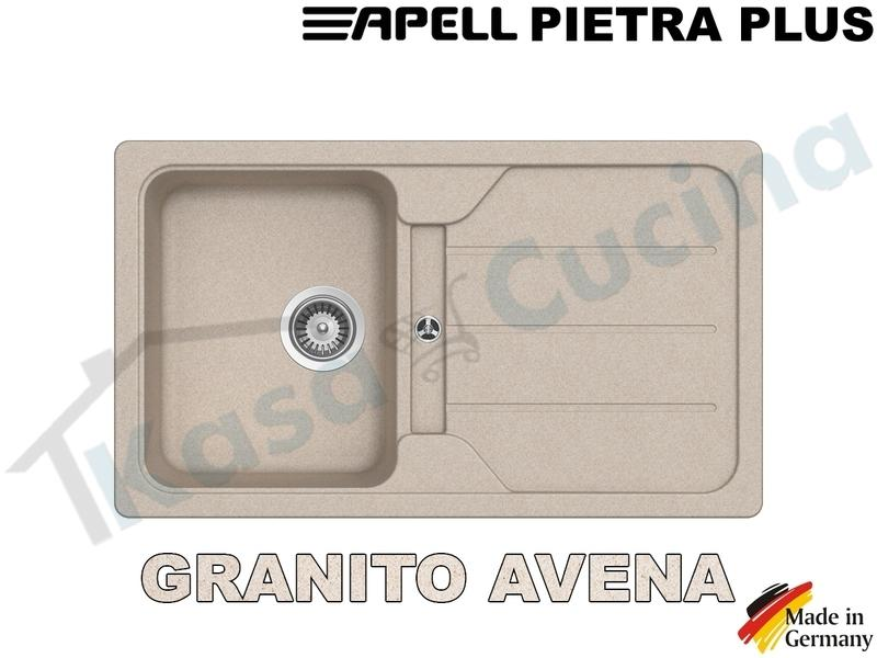 Lavello da Incasso Pietra Plus cm.86x50 Fragranite Avena 1 Vasca