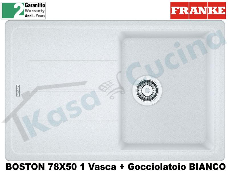 Lavello 78 X 50 1V + Gocc. Franke BFG611-78 9899876 Boston Bianco