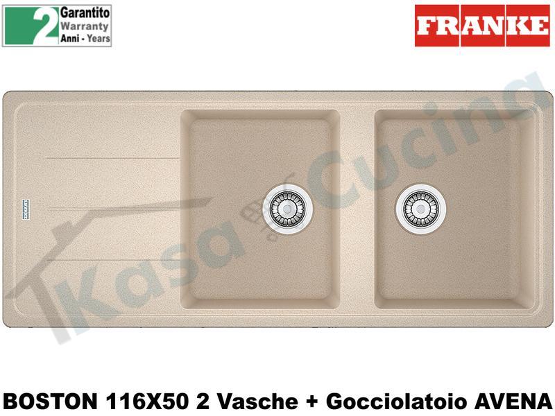 Lavello 116 X 50 2V + Gocc. Franke BFG621 9899996 Boston Avena