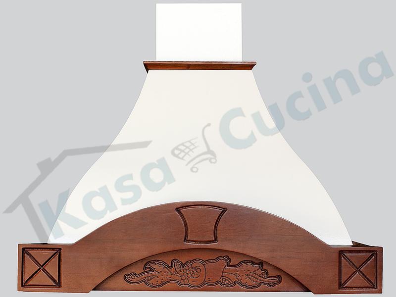 Cappa Arredamento Rustica Dora 90 Cornice Legno Grezzo Scolpito ...