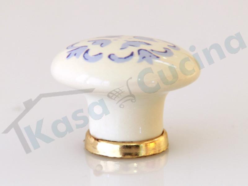 Pomolo Pomello 669-76 vietri azzurro porcellana ceramica ...