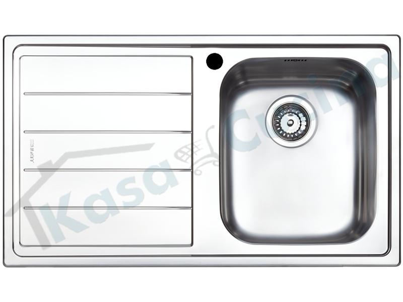Lavello da Incasso Linear cm.86X50 Acciaio Inox 1 Vasca ...