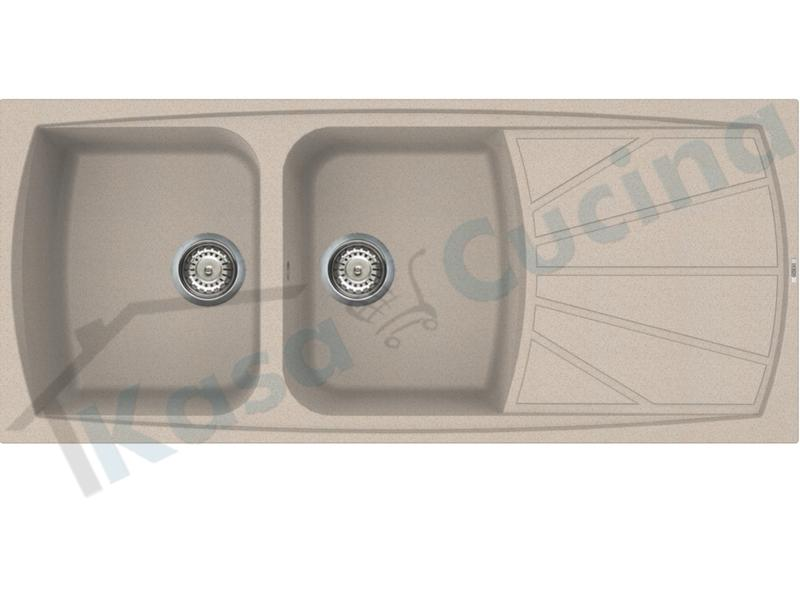 Lavello da Incasso Living cm.116X50 Fragranite Avena 2 Vasche | Kasa ...