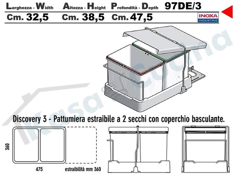 ARCKSTONE GEDY arredo bagno accessori appendiabiti sopra porta acciaio inox 2124