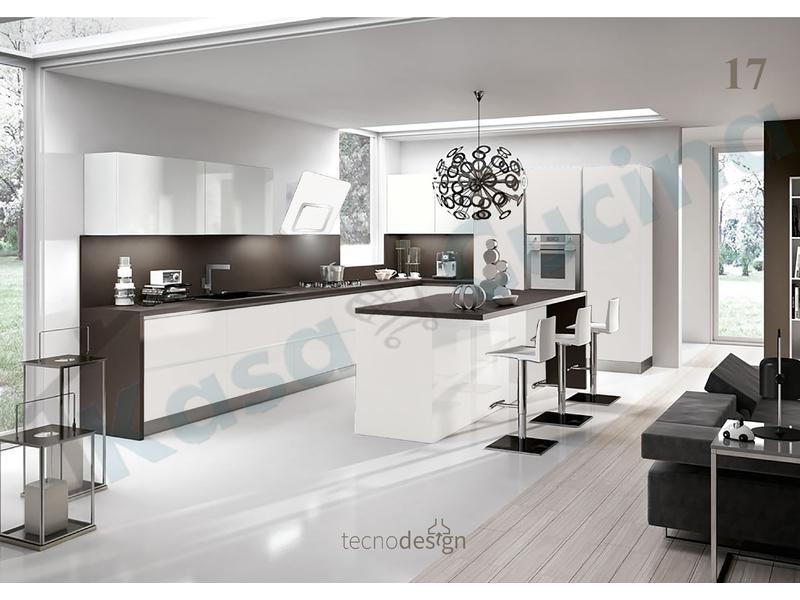Cappa Cucina Moderna 80 TD016BC Grace Inox-Vetro Bianco | Kasa ...