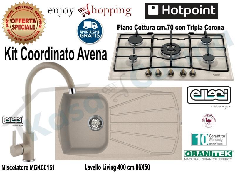 Set Avena: Lavello incasso cucina cm.86X50 1 Vasca e Gocciolatoio ...