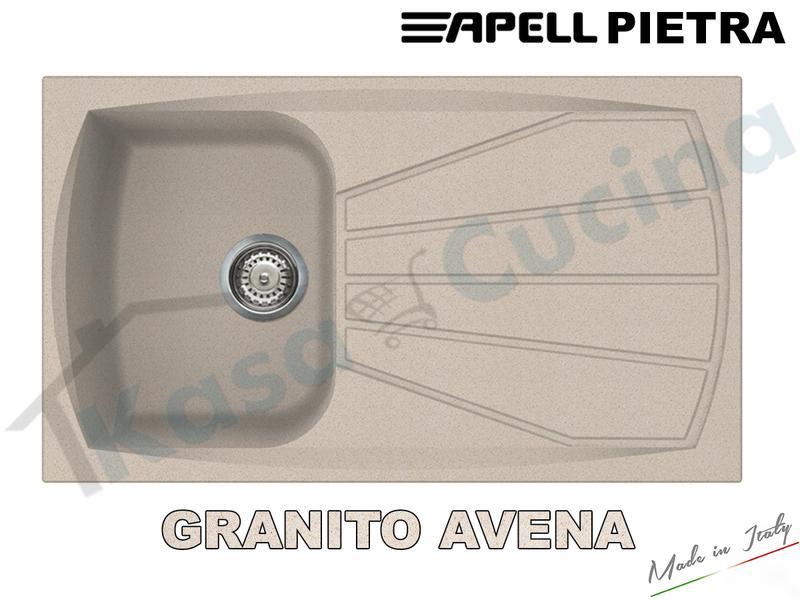 Lavello Fragranite Incasso Cucina Apell Pietra 41X50 1 Vascone Al Aluminium