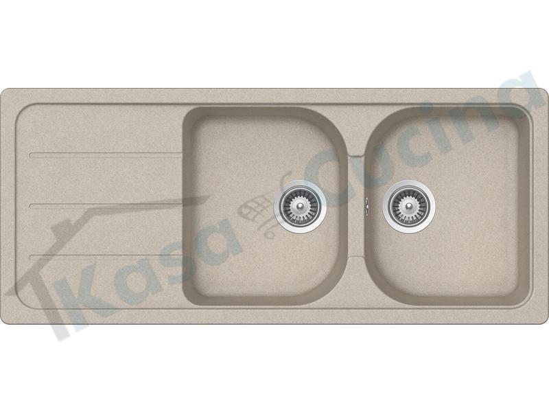 Lavello da Incasso Pietra Plus cm.116x50 Fragranite Avena 2 Vasche ...