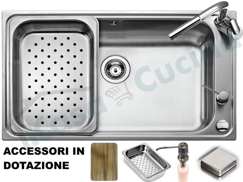Lavello Apell Criteria CRT860IKIT 86 X 50 1 Vasca / Vascone ...