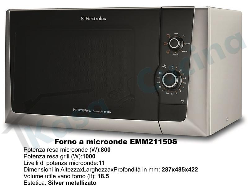 Forno Microonde con grill da appoggio Rex EMM21150S potenza 800 18,5 ...