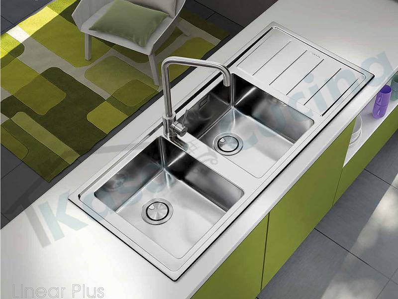 Vasca Da Cucina In Acciaio : Lavello da incasso linear plus cm.56x51 acciaio inox spazzolato 1