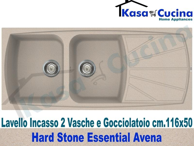 Lavello da Incasso Essential cm.116X50 Fragranite Avena 2 Vasche